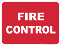 fire control safety sign