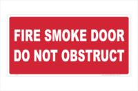 Fire Smoke Door sign