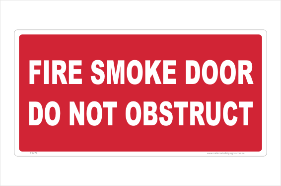 Fire Smoke Door sign