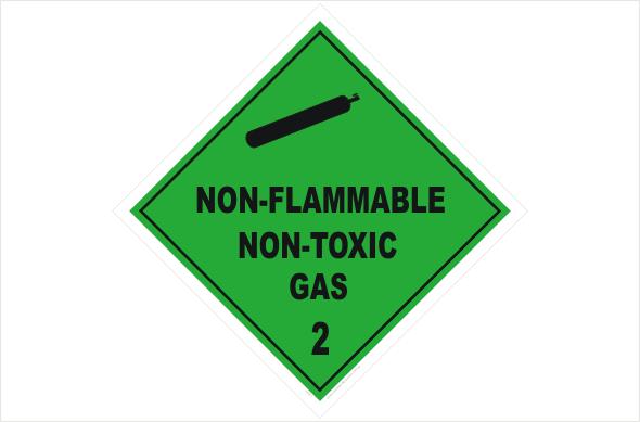 non-flammable non-toxic gases