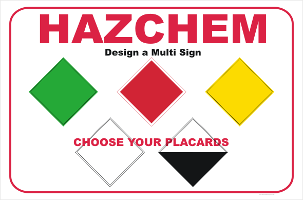 HazChem design a multi sign