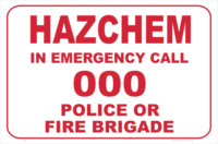 HazChem Dial 000