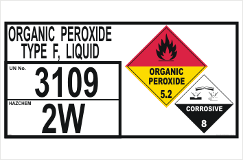 Organic Peroxide sign