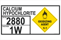 Calcium Hypochlorite 2880 Hazchem sign