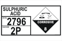 Sulphuric Acid 2796 Hazchem Sign