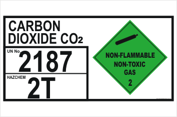 Carbon Dioxide Hazchem UN2187 Sign