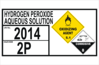 Hydrogen Peroxide Storage placard