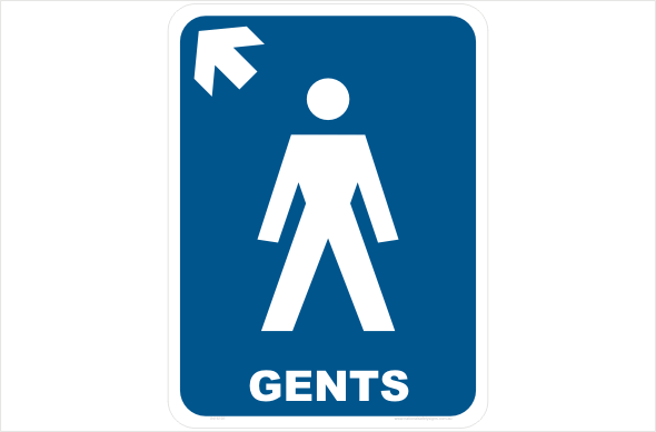 gents left arrow up