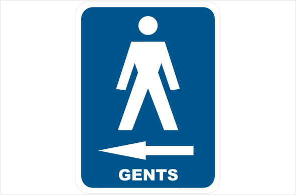 gents left arrow