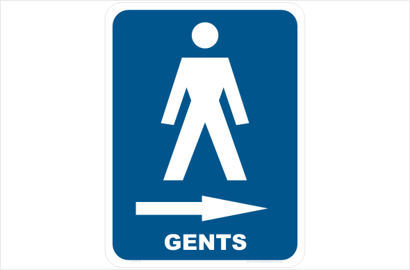 gents right arrow