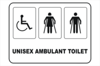 unisex disabled and ambulant toilet