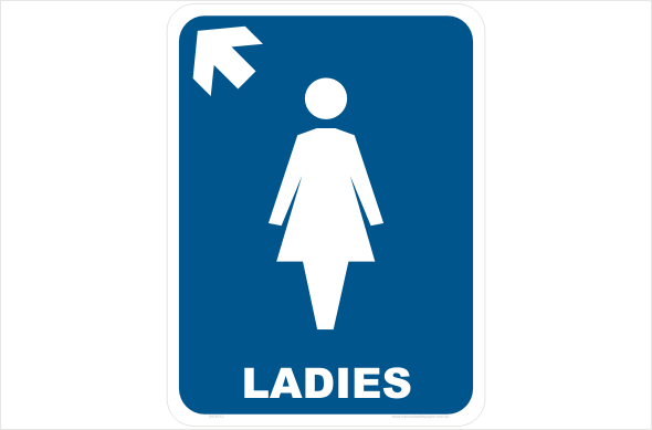 ladies left arrow up