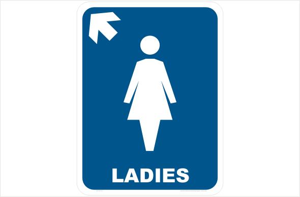 ladies left arrow up