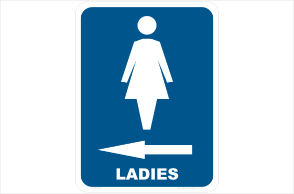 ladies left arrow