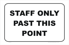 staff only past this point