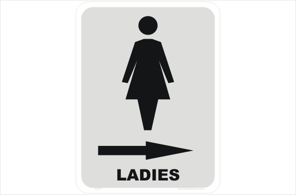 Toilet Sign IN National Safety Signs - Ladies bathroom sign