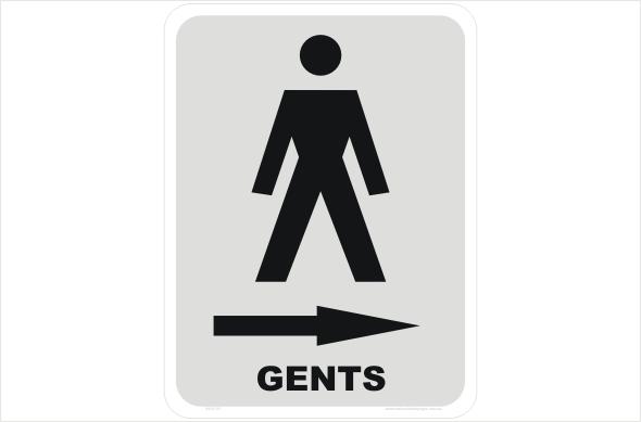 gents right arrow