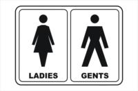 Toilet Ladies and Gents, bathroom, restroom