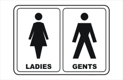 Toilet Ladies and Gents, bathroom, restroom