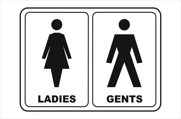 Incroyable Toilet Ladies And Gents, Bathroom, Restroom