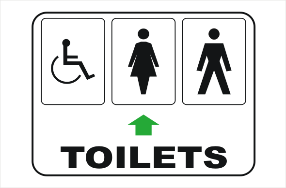 Toilet Sign IN1628