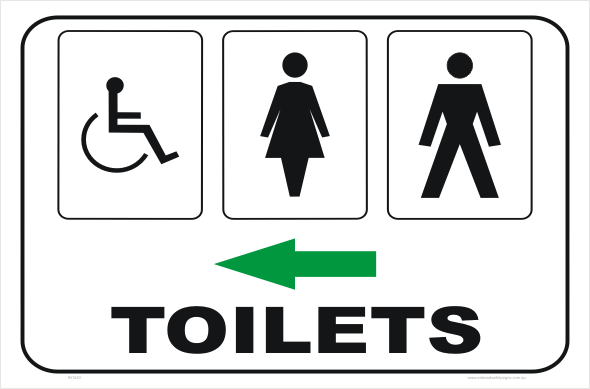 Toilet Sign IN1630