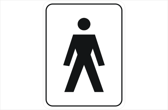 Toilet Signs Restroom Signs National Safety Signs - Male bathroom sign
