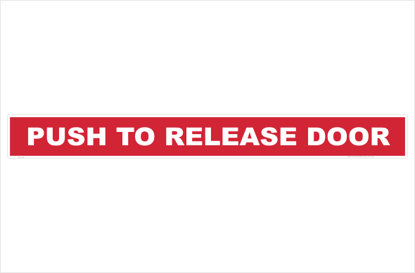 Push to release door