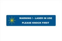 Knock First Laser in Use