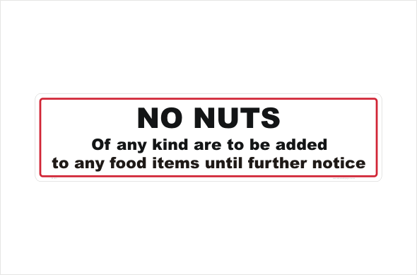 No Nuts in food