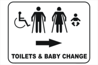 toilets and baby change room
