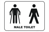 male and ambulant toilet