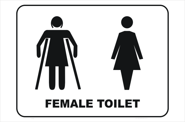 female and ambulant toilet