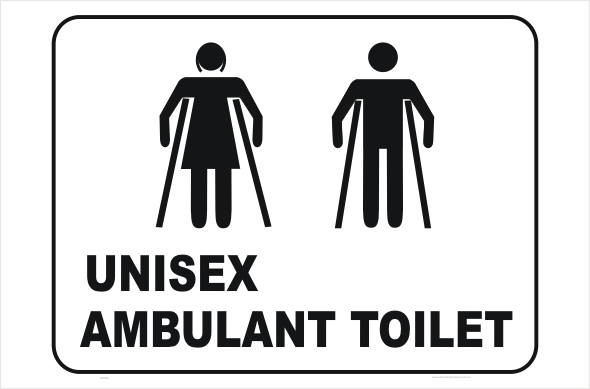 unisex ambulant toilet