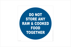 Raw and cooked food storage