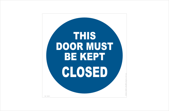 door must be kept closed
