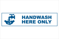 handwash here only
