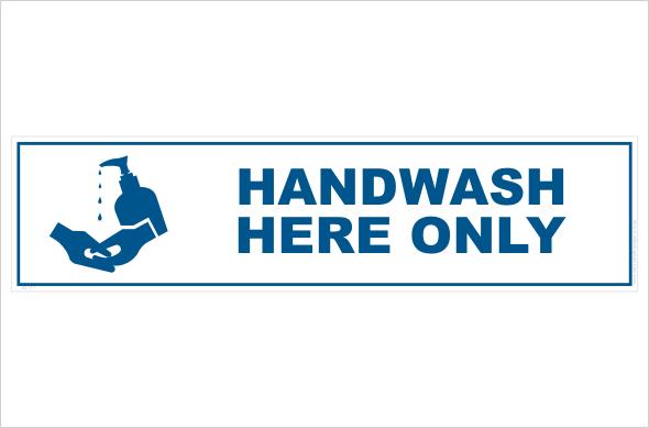 Hand wash here