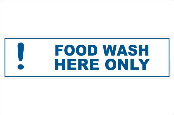 Wash food here