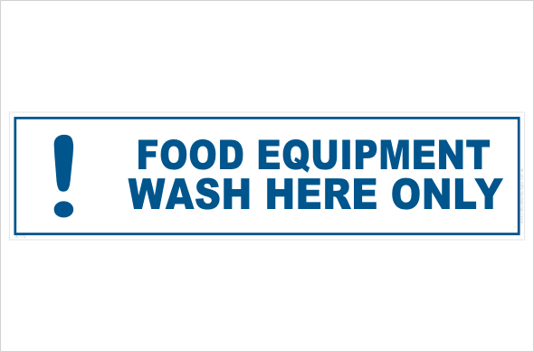 Wash food equipment here