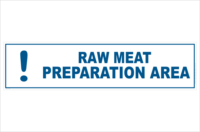 raw meat preparation area