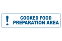 Cooked food preparation area