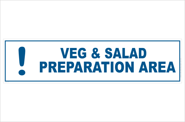Veg and salad preparation area