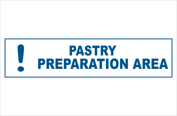 Pastry preparation area