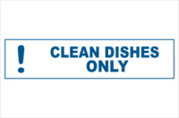 Clean dishes only