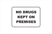 No Drugs on Premises