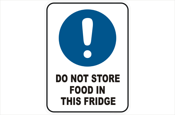 do not store food in fridge l1711 national safety signs. Black Bedroom Furniture Sets. Home Design Ideas