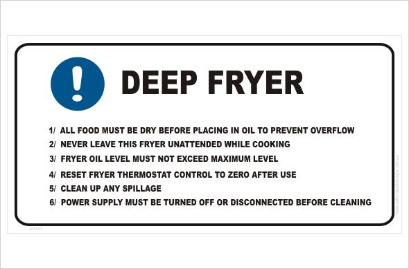 Deep Fryer procedure