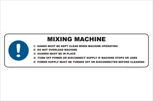 Mixing Machine procedure