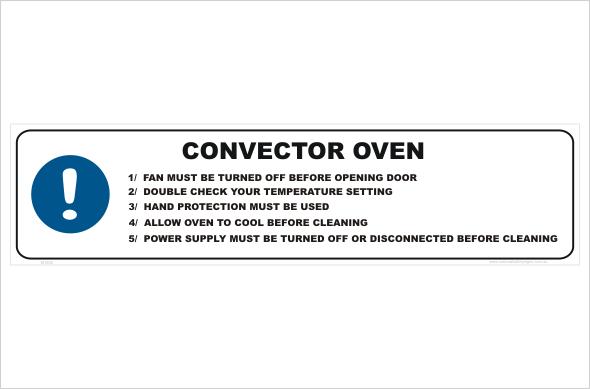 Convector Oven procedure